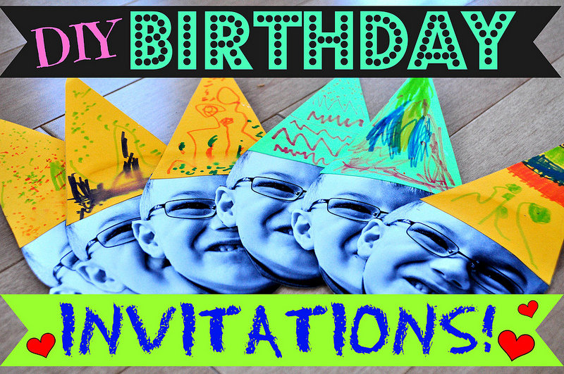 Birthday Invitations A DIY Craft
