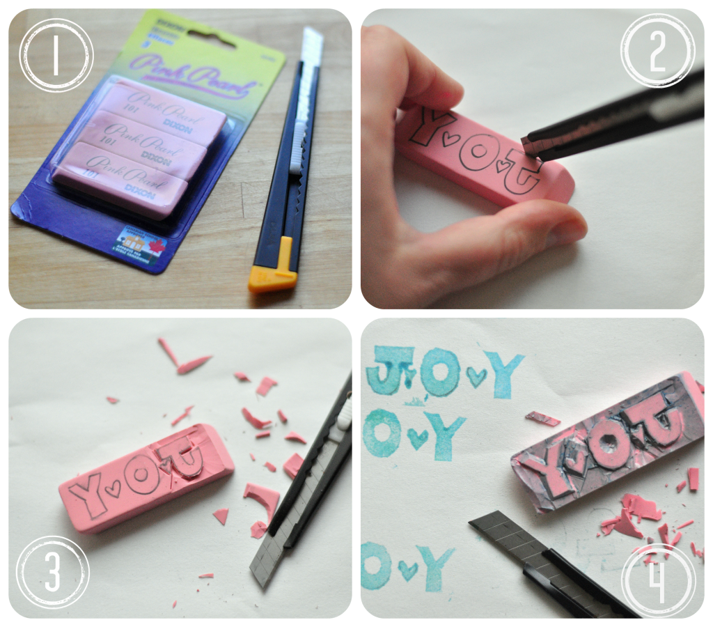rubber stamps, eraser stamps, diy, stamps