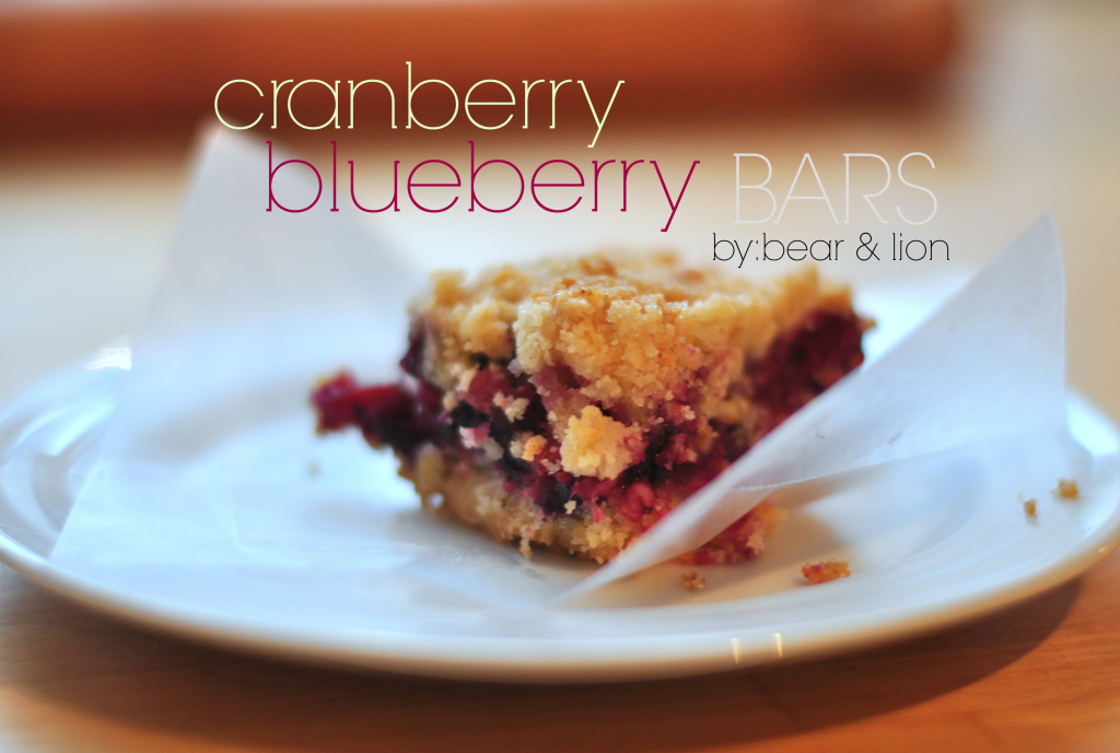 cranberry blueberry bars, fruit bars, baking