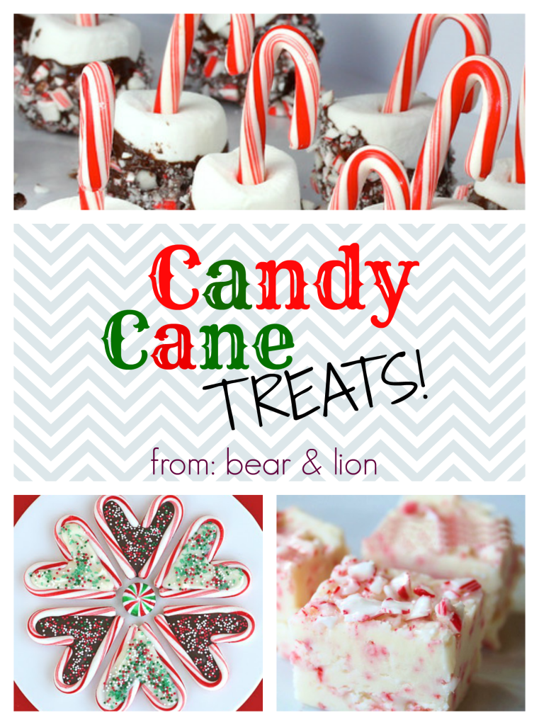 candy cane treats, christmas treats
