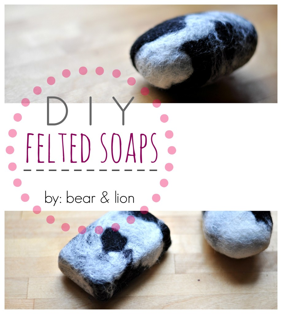 DIY, felted soaps, crafts, felt,