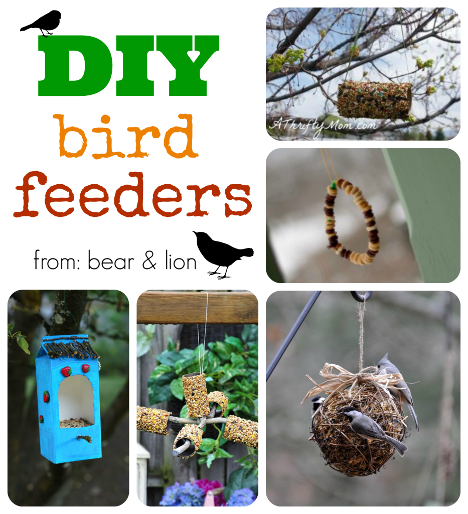 bird feeders, diy, kids crafts