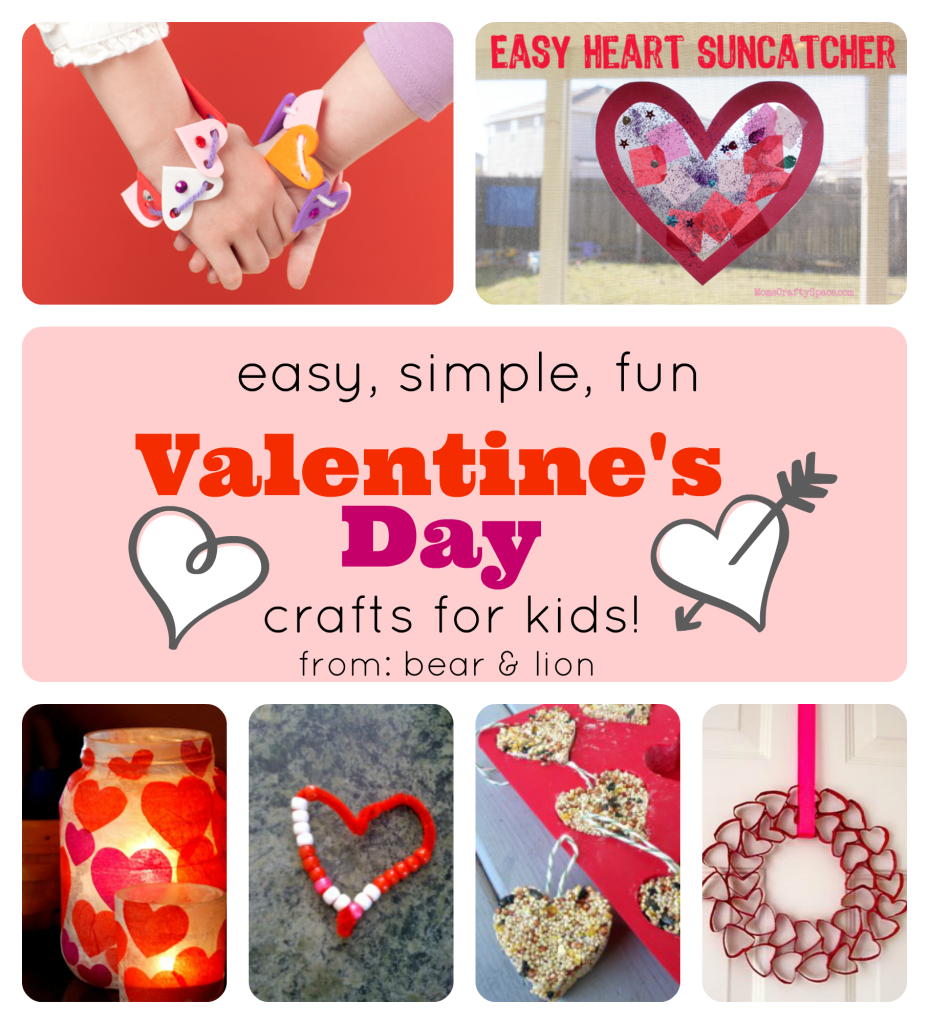 valentine's day, kids crafts, heart crafts