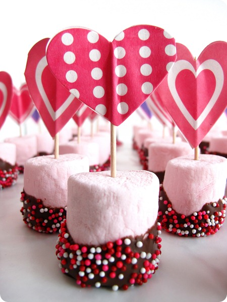 valentine's day, treats, marshmallows, hearts