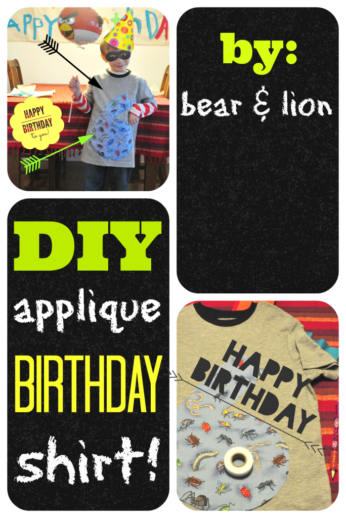 applique shirt, sewing, birthday