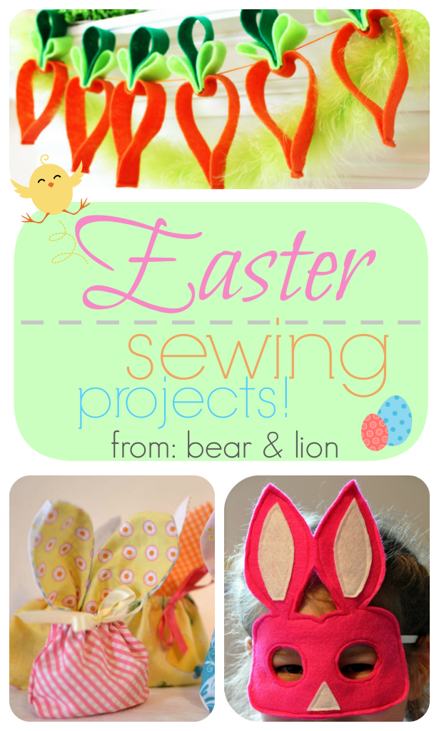 easter sewing, easter crafts,