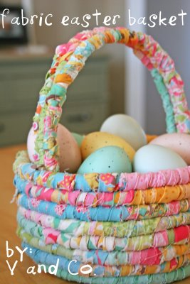 easter, sewing, fabric basket
