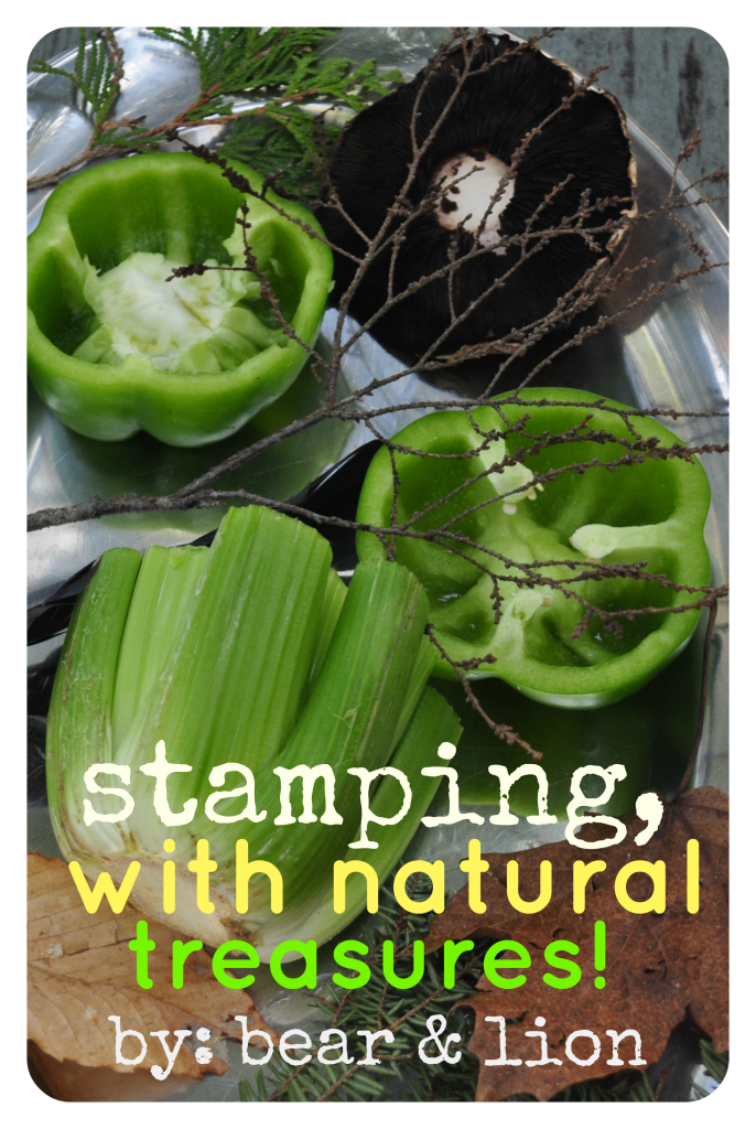 stamping with food, stamps, nature crafts