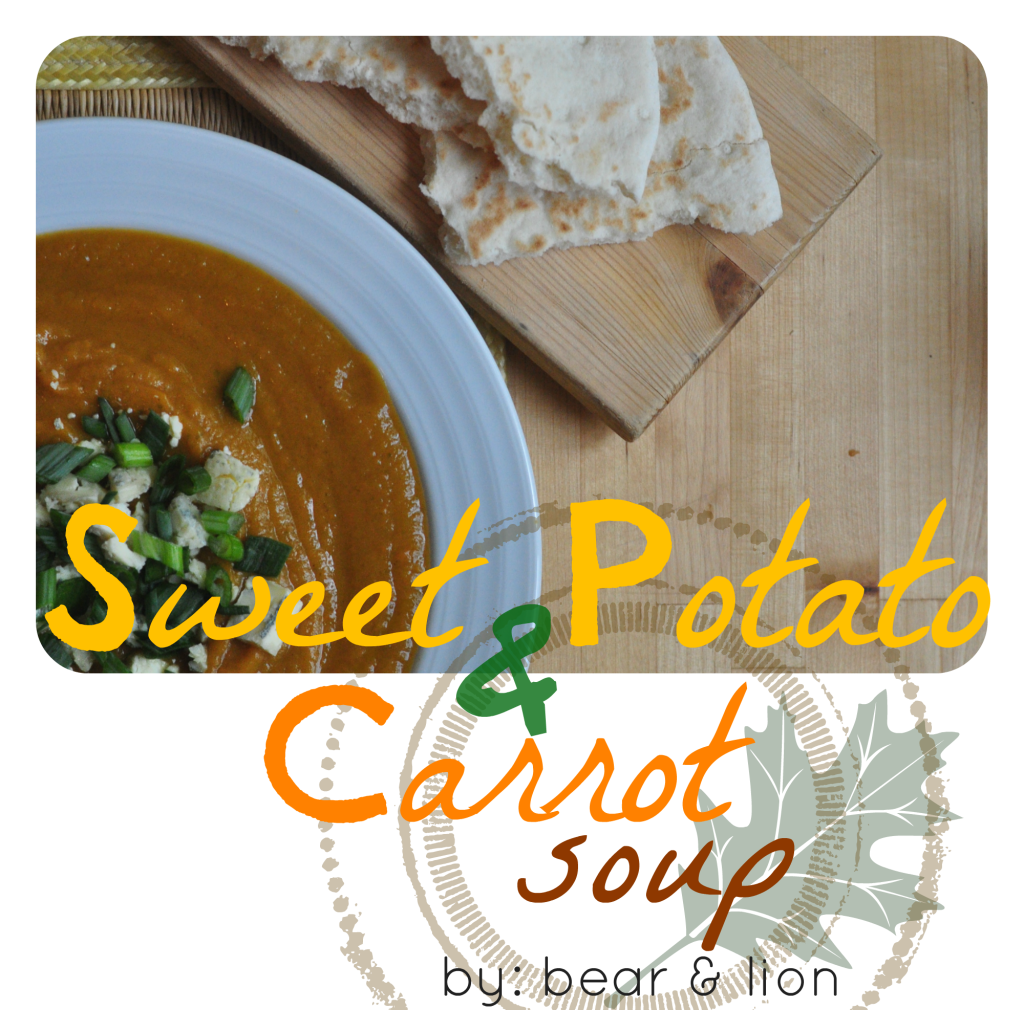 sweet potato and carrot soup 4