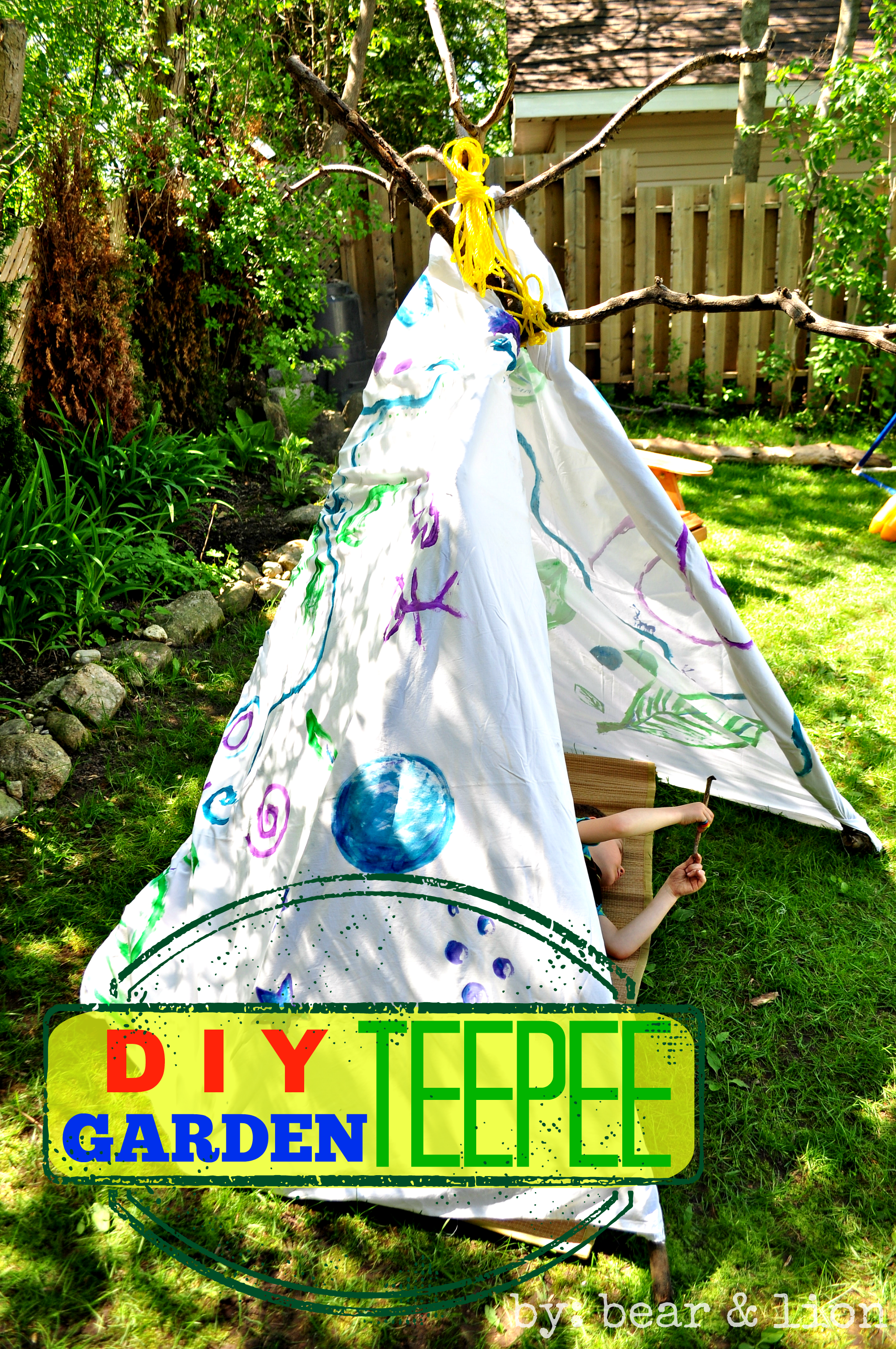 DIY Teepee, Backyard Teepee,