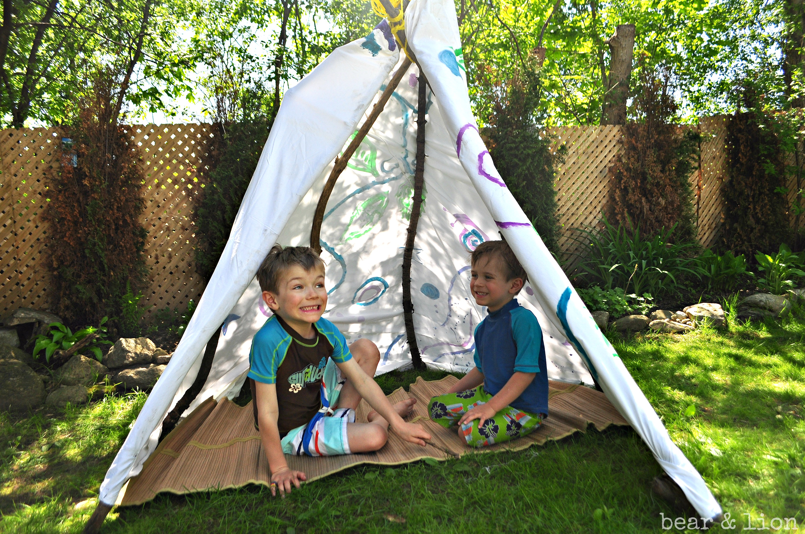 Garden Teepee For Kids, Make Your Own Teepee