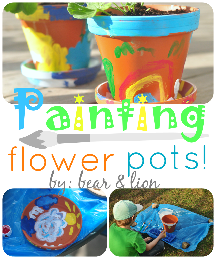 painting flower pots, mother's day, gift idea, kids crafts