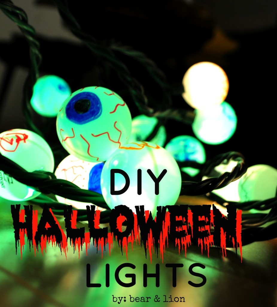 Diy Halloween String Lights : DIY halloween lights!
