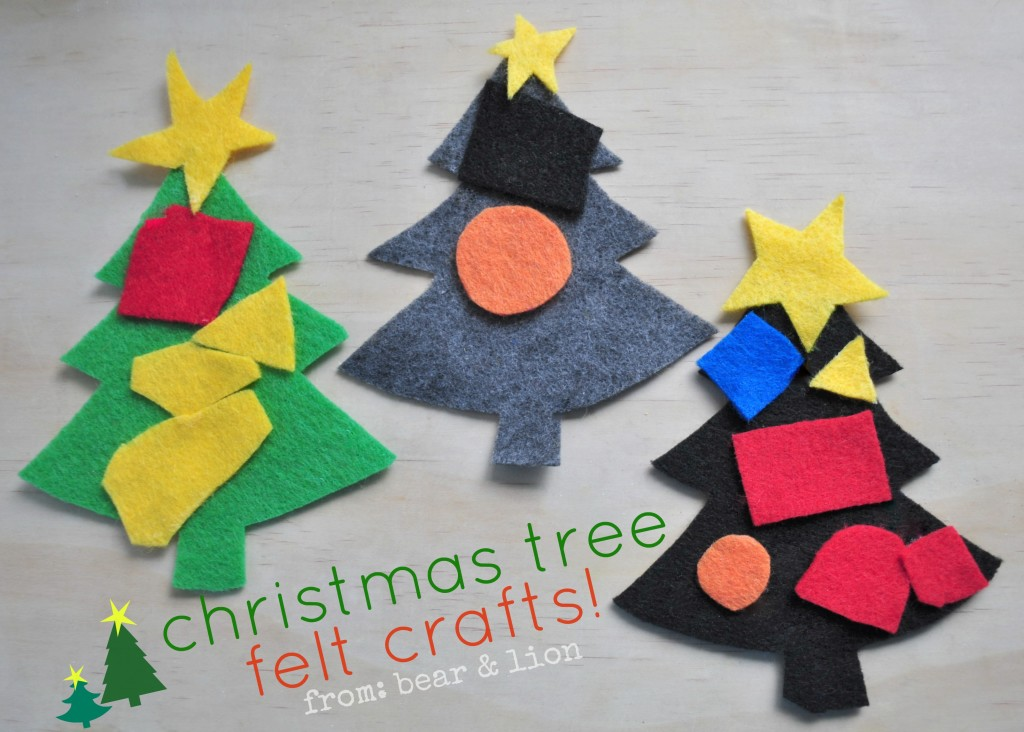 christmas tree felt crafts