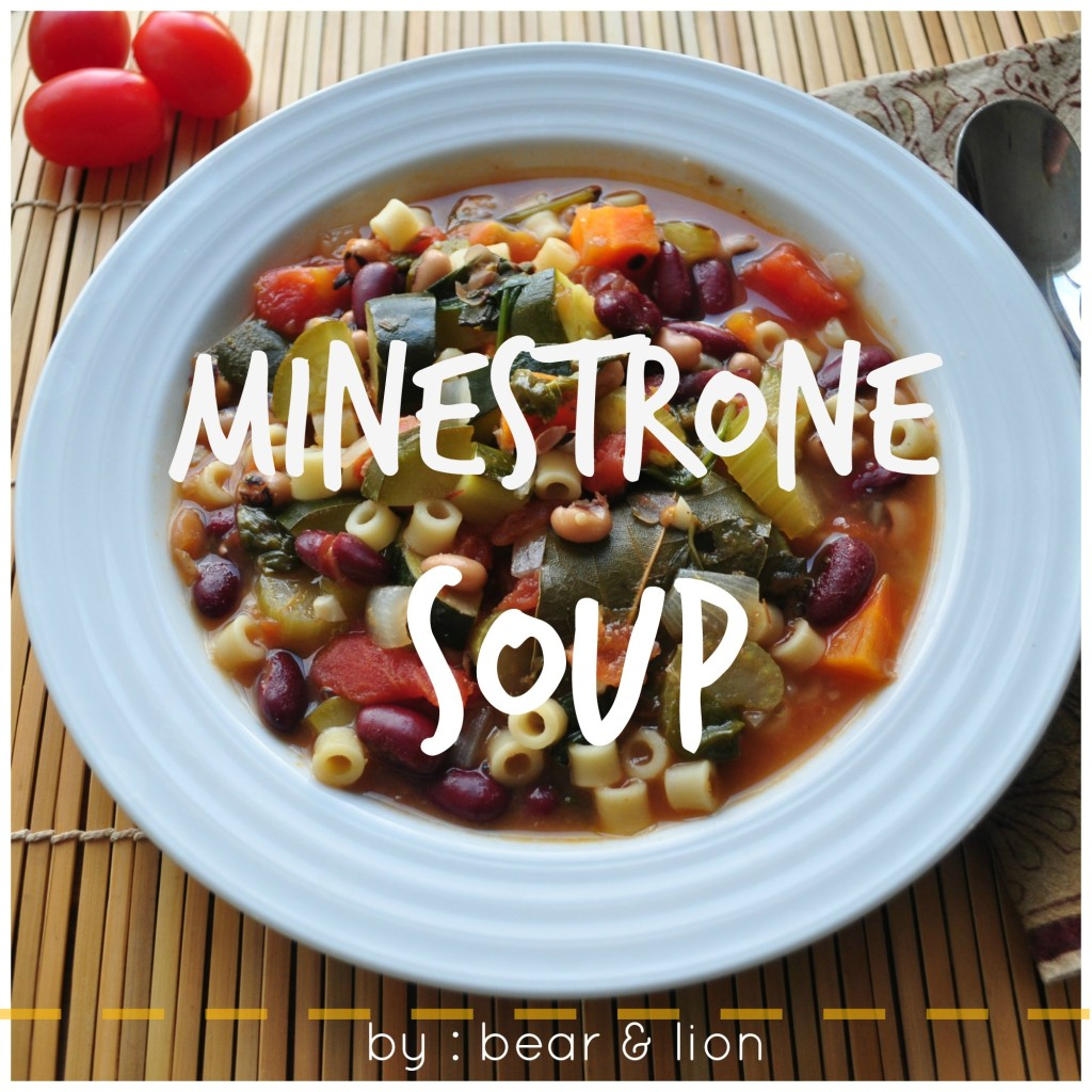 minestrone soup, hearty soup, vegetarian soup
