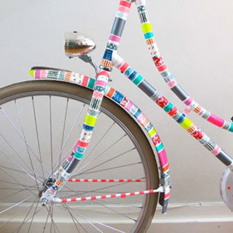 washi tape projects, washi tape bike