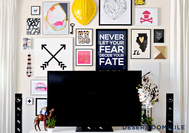 Wall Decor Behind Flat Screen Tv : Corner gallery wall inspirations