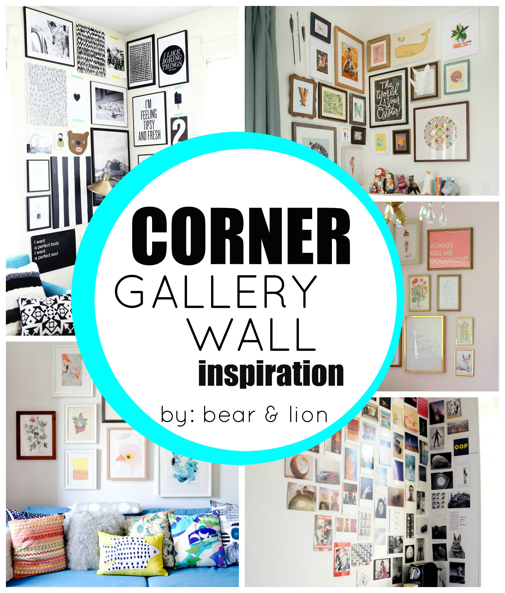 Corner gallery wall inspirations - How to decorate corner walls ...