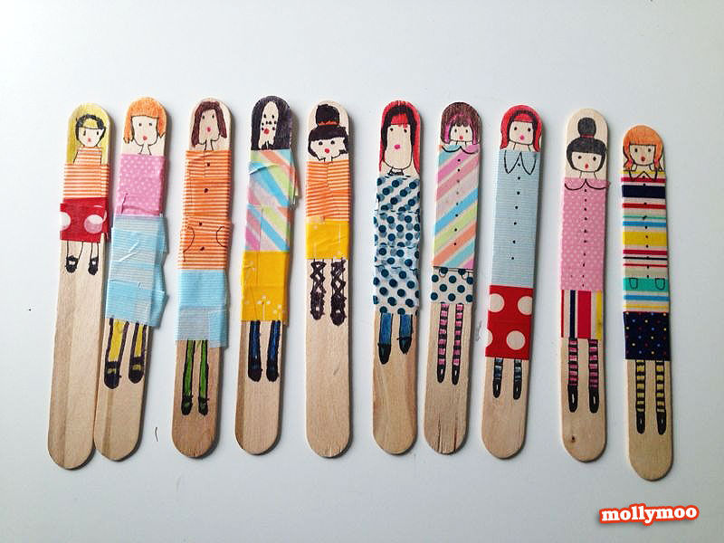 washi tape craft, washi tape people,