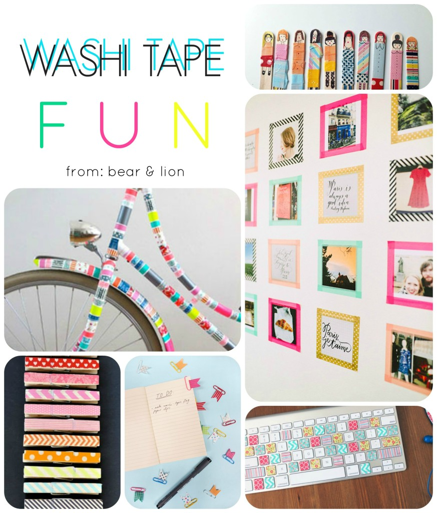 washi tape, washi tape fun, projects