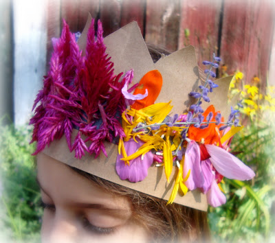 earth day crafts for kids, floral crown, nature crafts, eco crafts