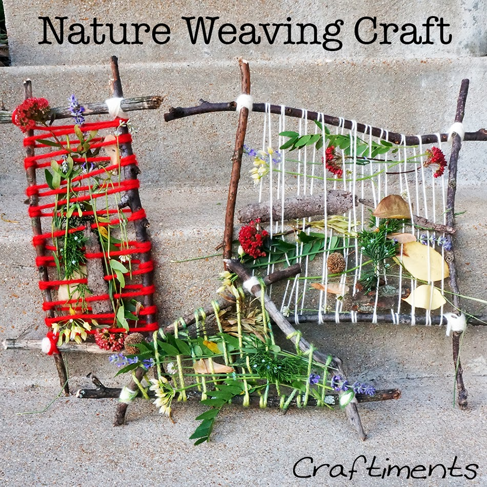 weaving with flowers, nature crafts, earth day crafts