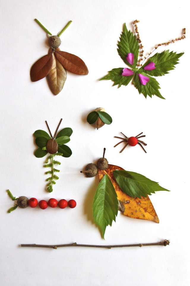 earth day crafts, leaf bugs, nature crafts, eco crafts