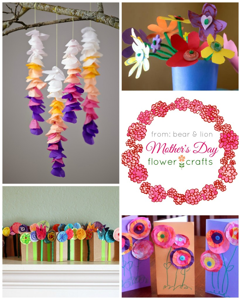 mother's day flower crafts, kids crafts, mothers day