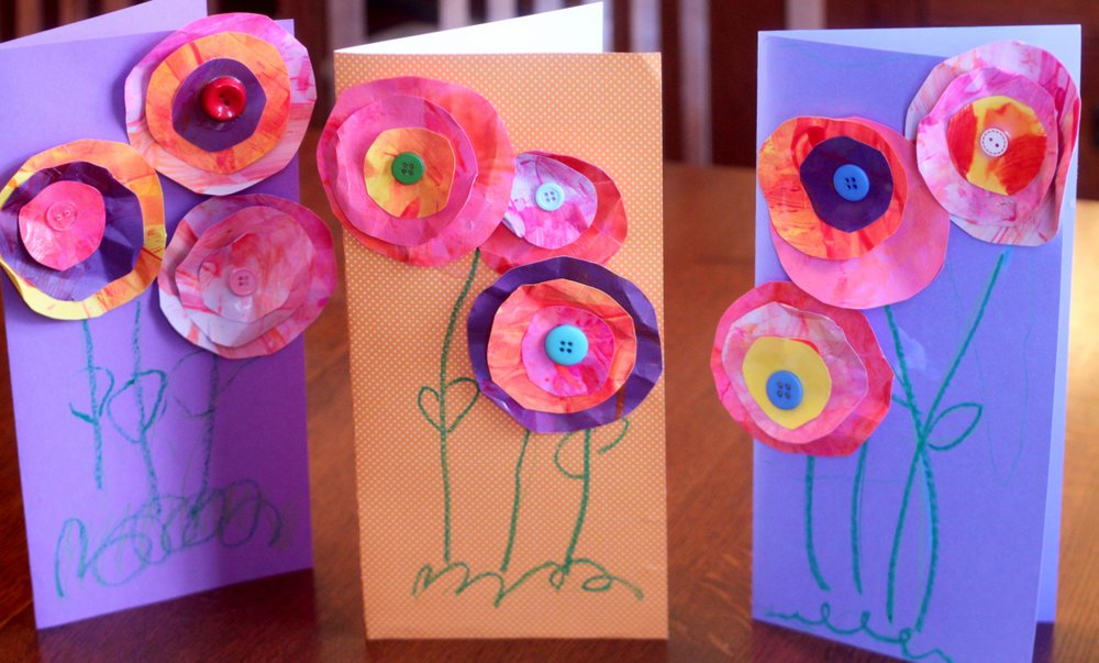 mother's day cards, kids crafts for mum