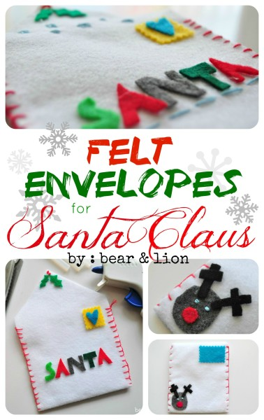 felt envelopes for santa claus!