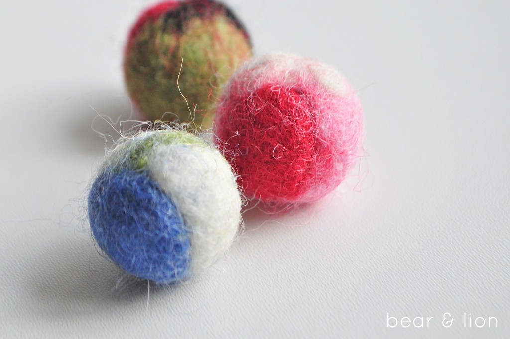felting, felted balls, felt crafts