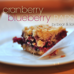 cranberry blueberry bars.