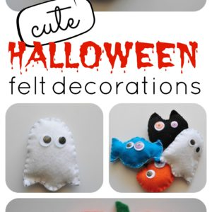 cute halloween felt decorations!